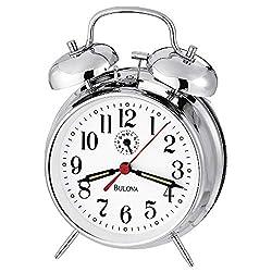 Bulova B8127 Bellman II Alarm Clock, Chrome
