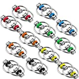 12 Pieces Fidgets Chain Fidget Toy Stress Relief Chain, Great for ADHD and ADD, Anxiety Relief Bike Chain Toys for Adults and Teens (Yellow, Red, Green, Light Blue, Black and Orange)