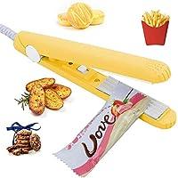 Lzpzz 小さなビニール袋、真空シーラーバッグ、チップバッグ、スナックバッグ45電源ケーブルと食品保存、ポータブル食品シーラーヒートシール機用/スマートバッグシーラーヒートシールハンドヘルド - ピンク (Color : Yellow)