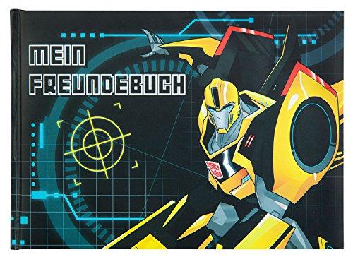 Undercover TFUV0962 - Freundebuch A5, 128 vorgedruckte Seiten mit vielen Eigenschaften zum Ausfüllen, Transformers mit Bumblebee Motiv
