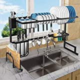 Over The Sink Dish Drying Rack, Length (33.4-41.3'') Adjustable...