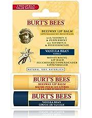 Burt's Bees Balsamo labbra idratante naturale, cera d'api e vaniglia, confezione da 2 tubetti da 4,25 grammi - 30 g