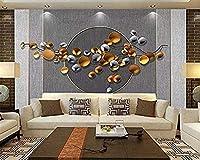 Bosakp 3Dウォールアート北欧シンプルメタルフラワーブランチファブリックテレビ背景壁ヨーロピアンスタイルのリビングルームのベッドルームワン 240X155Cm