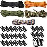 vivio Paracord Set Paracord pulsera Set cuerdas multicolor cuerda paracaídas cuerda Survival Outdoor paracaídas cuerda DIY tejido metros resistente llavero Knüpf colgante cuerdas