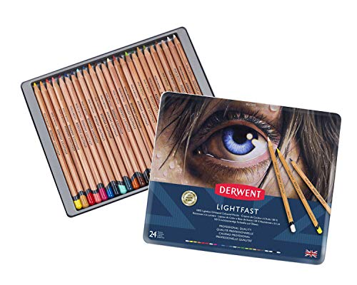 Derwent Lightfast Colored Pencils, for Artist, Drawing, Professional, 24 Pack (2302720), Multicolor