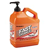 Permatex 25219 Fast Orange Pumice Lotion Hand Cleaners, Citrus, Bottle with Pump, 1 gal