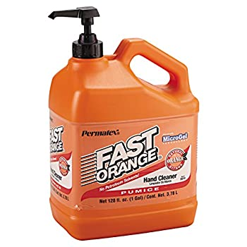 Permatex 25219 Fast Orange Pumice Lotion Hand Cleaners Citrus Bottle with Pump 1 gal