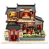 TOOGOO Maison de PoupéE Chinois Style H?Tel Miniature Dollhouse AssembléE Kit...