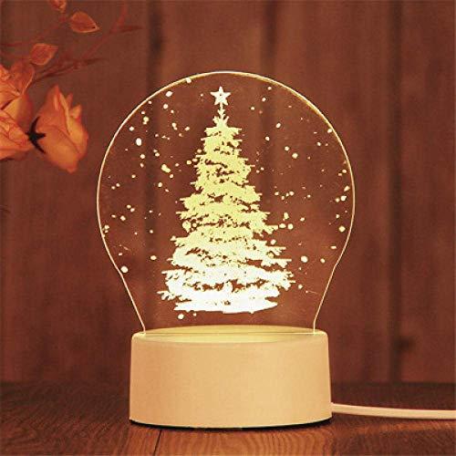 Bar Stools Stecker Modelle 3D Nachtlicht Geburtstagsgeschenk Geleefisch Lampe LED Dekorative Tischlampe Flutlicht Schlafzimmer Nachttischlampe Paar Geschenk-Weihnachtsbaum