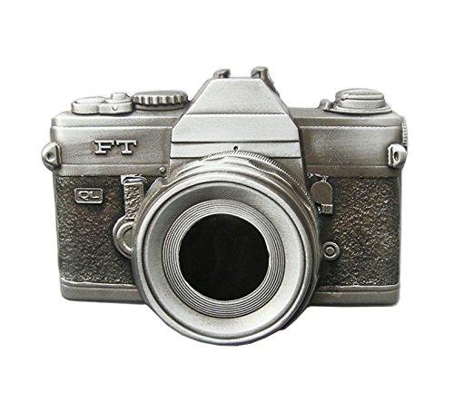 Schnalle123 Gürtelschnalle Kamera Foto Fotoapparat Retro 3D Optik für Wechselgürtel Gürtel Schnalle Buckle Modell 121
