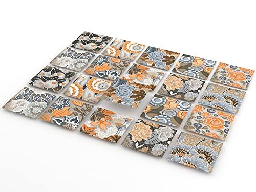 TINK Adesivi per Piastrelle | Autoadesivo Decorazione per piastrelle, cucina, bagno, superfici in legno e scale | Autoadesivi Impermeabile Adesive retrò Stile (Fez, 10x10cm // 20 Pezzi)