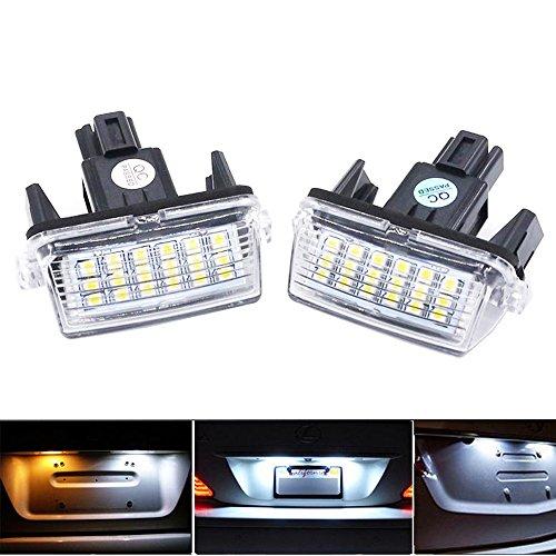 PolarLander 2Pcs Allume la Lampe de Plaque d'immatriculation de 12V SMD3528 La Plaque d'immatriculation de la Voiture LED de pour to/yota Co/Rolla Ya/RIS Ca/mry 12-15 Au/RIS VI/os Hybrid