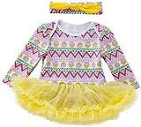 Aeromdale Conjunto de 2 piezas de ropa de manga larga para bebés y niñas con tutú y cinta para el pelo