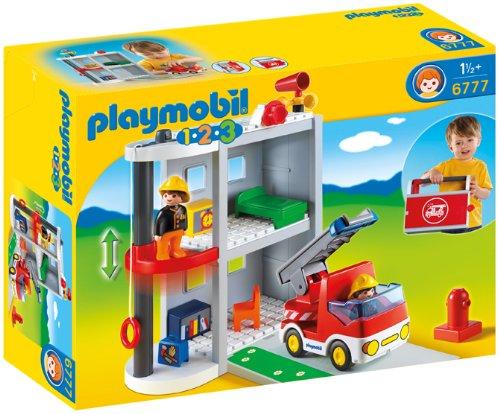 Rubie's-déguisement officiel - Playmobil - Jeu de Construction Caserne de Pompiers- 6777