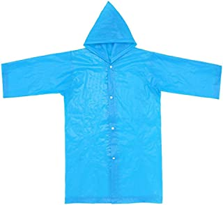 Reusable Portable Children Eco Rain Ponchos for 6-12 Years Old