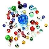 PhiLuMo - Canicas de Cristal de Colores...