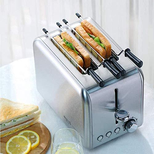 Haushalt Toaster 2 Scheiben, automatische elektrische Brotbackmaschine Haushalt Frühstück Toast Sandwich Maker Aufwärmen Küche Grillofen