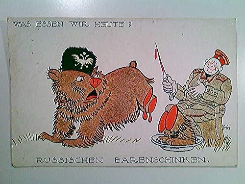 Was essen wir heute? Russischen Bärenschinken, Soldat, Humor, Karrikatur, AK, ungelaufen