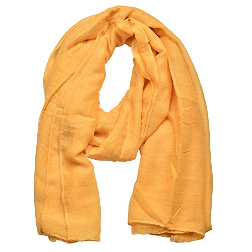 Woogwin Women's Cotton Scarves Lady Light Soft Fashion Solid Scarf Wrap Shawl (One Size, Ginger)