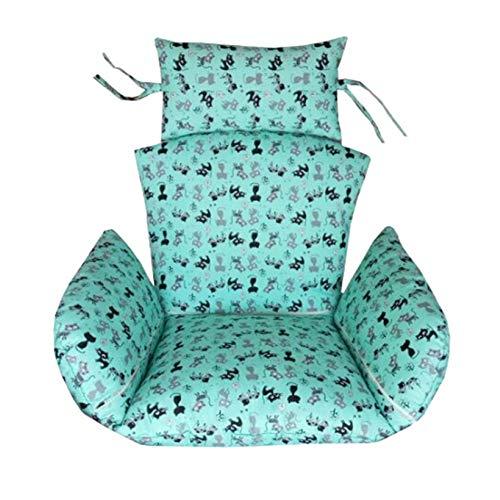 Hyxqyzz zitkussen voor hangende mand om op te hangen, schommelstoel, waterdicht, van polyester, comfortabel en superzacht