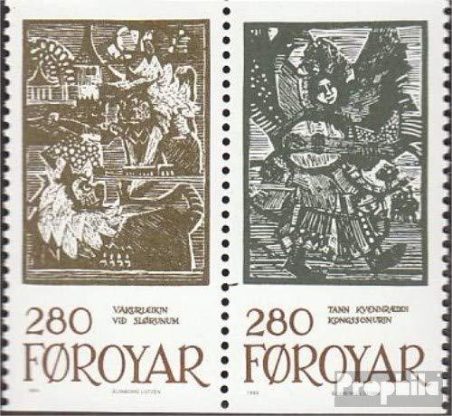 Prophila Collection Dänemark - Färöer W7 (kompl.Ausg.) 1984 Märchenillustrationen (Briefmarken für Sammler) Kultur