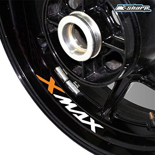 psler Neumático de la motocicleta reflectante creativo pegatina Etiqueta de llanta de rueda para Yamaha X MAX