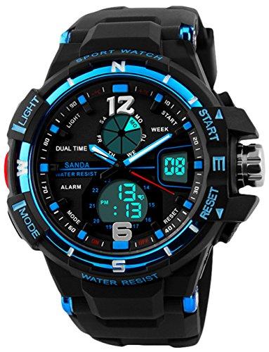 Kinder Digital Sport Uhren für Jungen, Kinder Sport Outdoor Analog Uhr mit Alarm, Jungen Sport Armbanduhren für Jugendliche