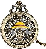 Exquisite Hollow-Out One Piece Gelbe Kappe Muster Abdeckung Taschenuhr für Männer, Utility Alloy Rough Chain Taschenuhren für Frauen, Attraktive Big Arabic Numerals Dial Pendant Watch für Jungen