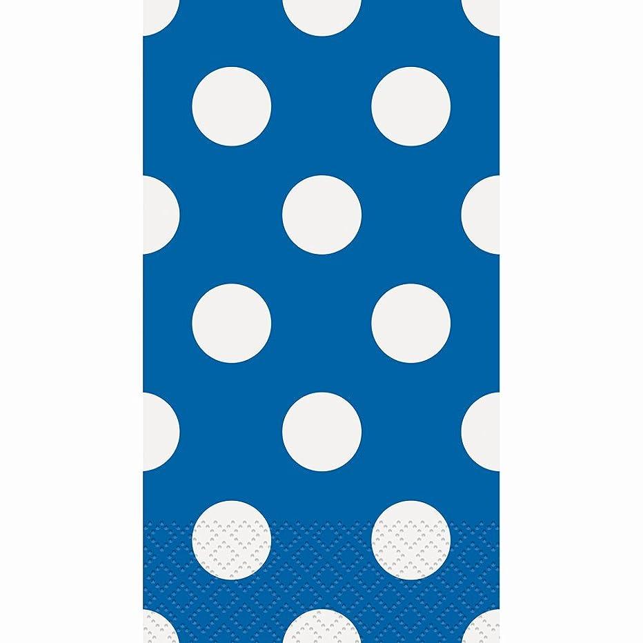 Royal Blue Polka Dot Paper Guest Napkins, 40ct