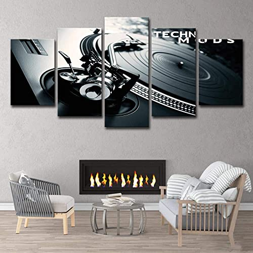 FBDBGRF pintura lienzo pintura arte DJ música reproductor de CD moderno salón...