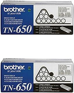 Cartucho de toner laser preto genuíno TN-650 (TN650) de alto rendimento, pacote com 2