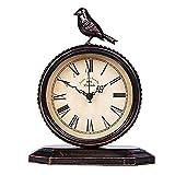 Pkfinrd Reloj Despertador Retro Retro Hierro Forjado Reloj...