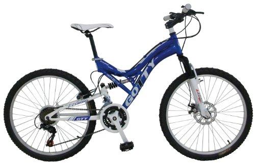 """Gotty Bicicleta de montaña para niños de Entre 10 y 12 años STRONG-24DD, Cuadro 24"""" Acero, suspensión Aluminio, Cambio Shimano TX-35 21Velocidades, bielas de Acero, Frenos de Disco"""