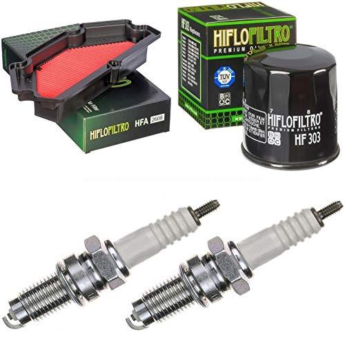 Filtro de aire, filtro de aceite, bujías para ER-6N 650 F ABS, año de construcción 2012-2017, kit de mantenimiento