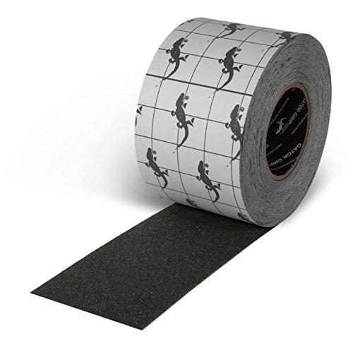Gator Grip Traction Tape-SG3104 Premium Grade High Traction Abrasive Non Slip 60 Grit Indoor Outdoor Anti-Slip Adhesive Grip Safety Tape, 4 Inch x 60 feet, Black