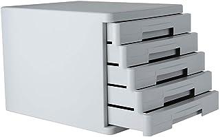 Classeur avec tiroir Module Classement Armoire de Bureau Organisation du Meuble de Rangement en Plastique à 5 tiroirs - Gr...
