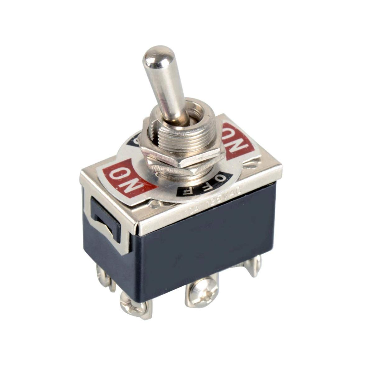 DPDT 6-Pin 3-Position On/Off/On Metal Toggle Switch 240V/15A 120V/20A AC:  Amazon.com: Industrial & Scientific
