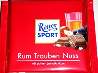Ritter Sport Rum Raisin Hazelnut 100g - 6 Pack!