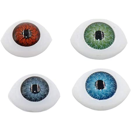 TOPWEL 4 Color 16pcs Oval Hollow Eyes for Sewing Crafting Buttons for Bear Doll of DIY 14#10MM