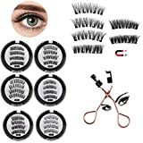 LVOD 8D Quantum Magnetic Eyelashes with Soft Magnet Technology Dual Natural Lash, 0.2mm Ultra Thin Magnet, Light Weight Reusable 3D Eyelashes