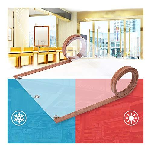 GGYMEI Separador De Ambientes, Cerrar automáticamente Cortina Suave Tienda Mercado Puesto Barra de Silencio incorporada Soporte de personalización (Color : Brown, Size : 0.40x2.4M-1pcs)