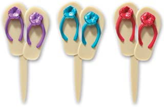 DecoPac Summer Flip Flops DecoPic Cupcake Picks (12 Count)