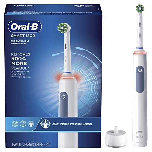 Oral-B Smart 1500 Electric Power Rechargeable Battery Toothbrush, Blue