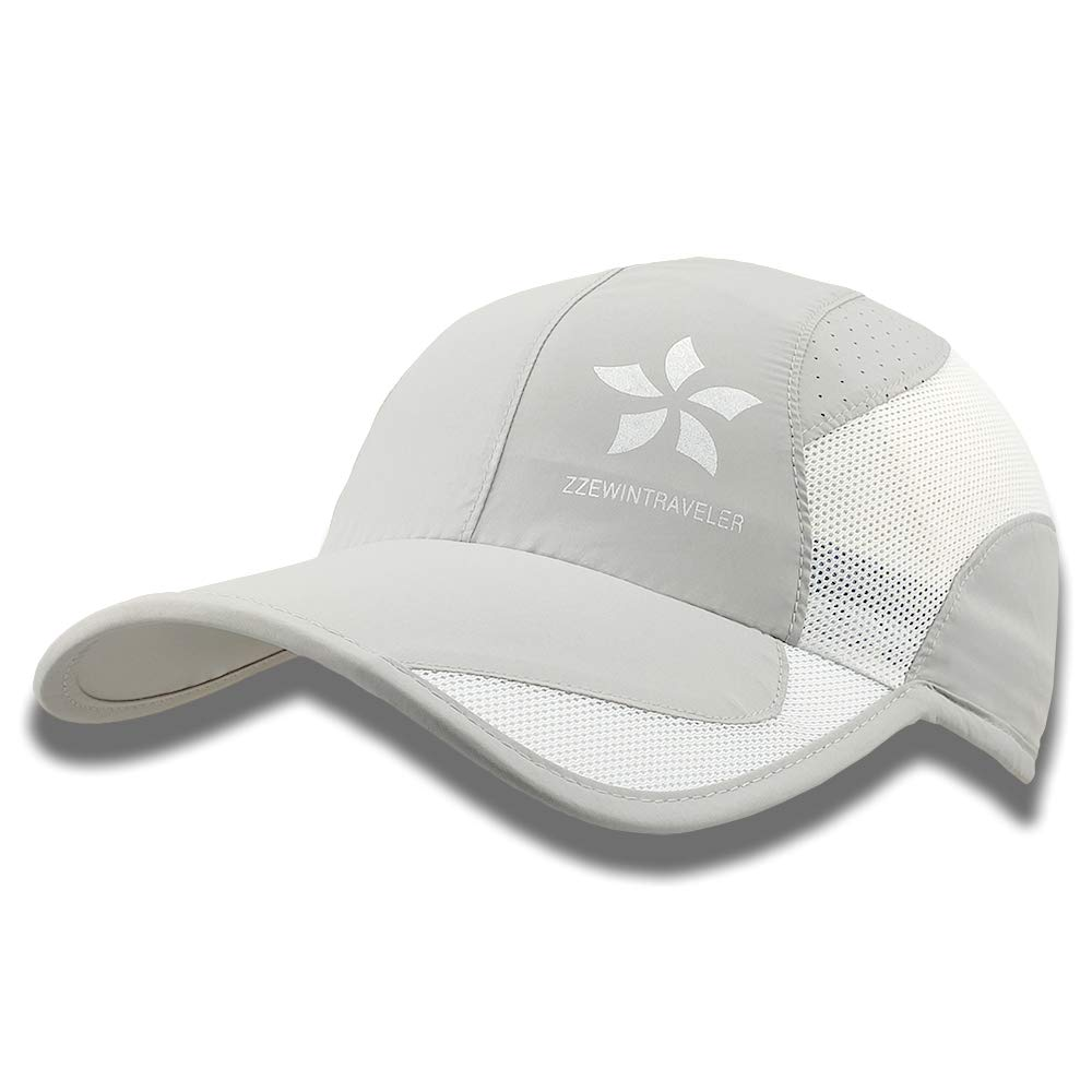ZZEWINTRAVELER Quick Dry Cap Running Hats Lightweight Breathable Soft Adjustable Outdoor Sports Hat for Men Women
