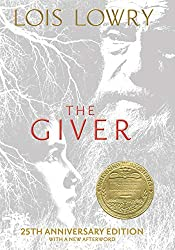 More books by Lois Lowry include The Giver, book cover with an old man and young boy