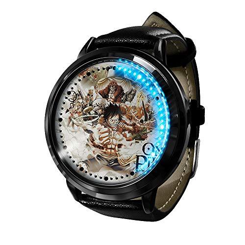 Anime Uhr One Piece Clock Led Touchscreen Wasserdicht Digitallicht Uhr Armbanduhr Unisex Cosplay Geschenk Neue Armbanduhren Kinder-A3