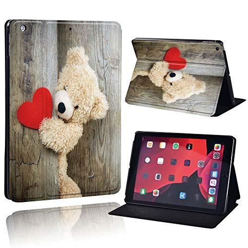zhishen Funda con Soporte para iPad/iPad Mini/iPad Air/iPad Pro 7,9 9,7 10,2 10,5 11 Pulgadas Tablet Folio Flip Case Funda para Tableta + bolígrafo-Oso de Peluche_iPad Pro 1. ° 2. ° 11
