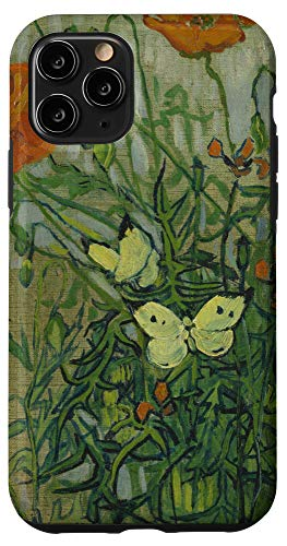 iPhone 11 Pro Butterflies and Poppies by Vincent van Gogh Case