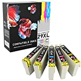 Prestige Cartridge 29 29XL Cartucce d'Inchiostro Compatibile con Epson Expression Home XP-245 XP-247 XP-335 XP-342 XP-352 XP-442 XP-445 XP-452 XP-455 XP-255 XP-257 XP-332 XP-345 XP-355 | Pack di 5