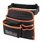 TACKLIFE PTB01 6-Pocket Professional Tool Belt, Three Layer Waterproof Fabric, Fluorescent Strips For Night Work, Technician's Tool Holder Work Organizer